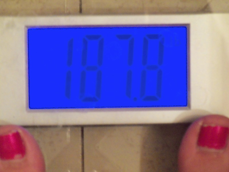 I lost 3.8 pounds!!!!