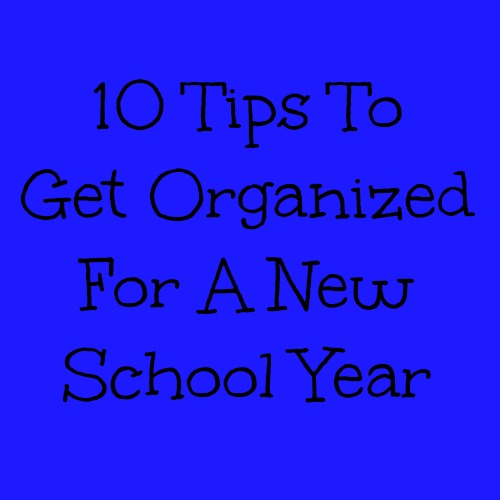 Organizing For A New School Year