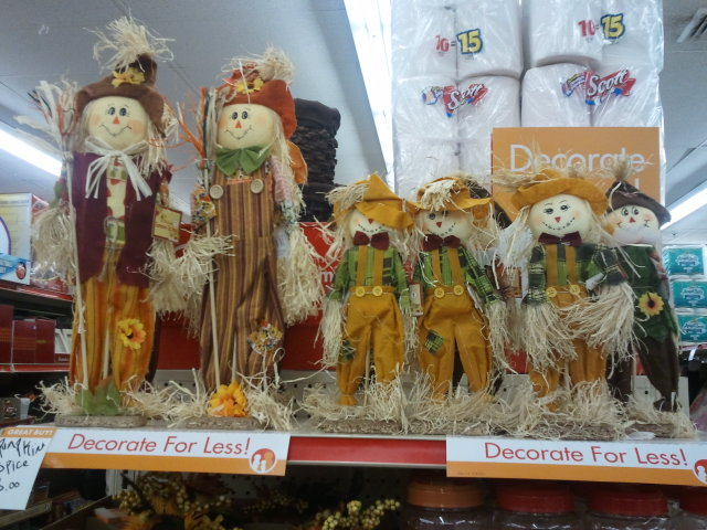 These scarecrows are so cute and best of all? The little ones are only $1!