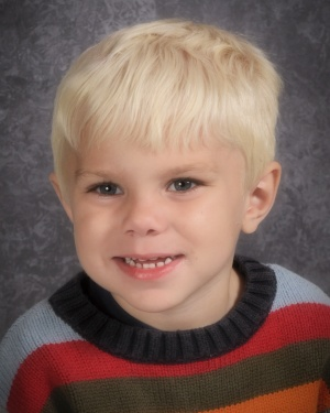 Jacob's First School Picture {Wordless Wednesday}