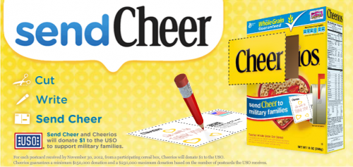 Send Cheer To Military Families With Cheerios {sendCheer}