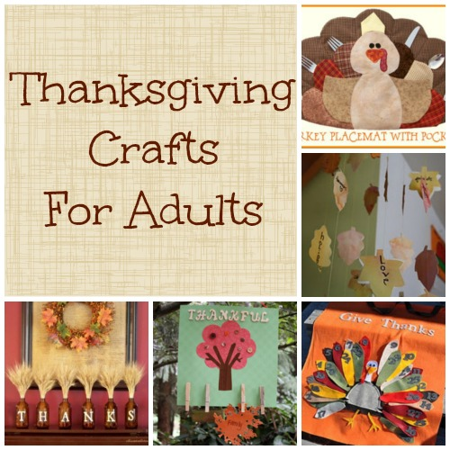 Thanksgiving crafts for adults making time for mommy for Christmas arts and crafts for adults