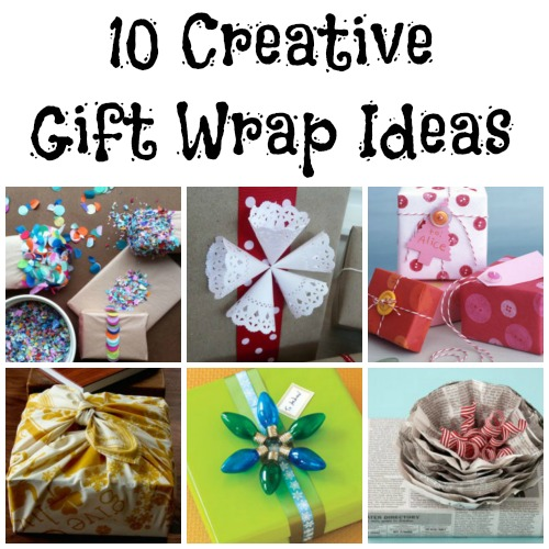 gift wrapping collage