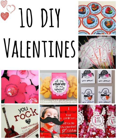 DIY Valentines {10 Ideas}