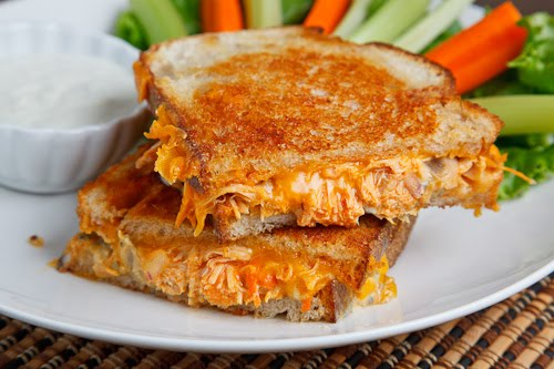 Sunday: Buffalo Chicken Grilled Cheese Sandwich