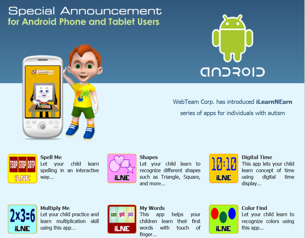 New Android Phone Apps For Children With Autism