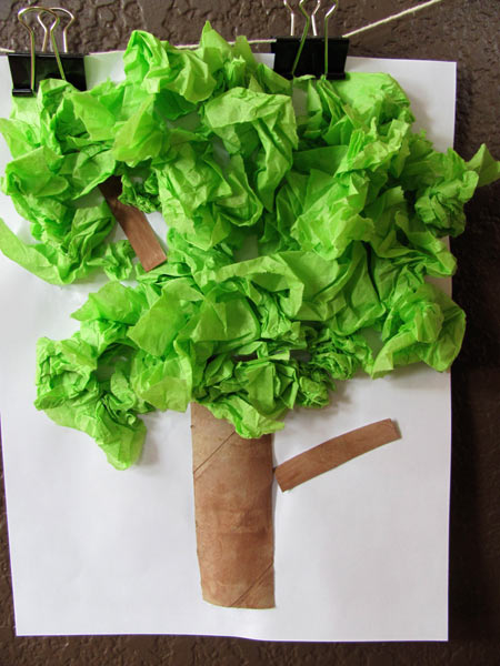 Tissue Paper Tree from Projects For Preschoolers