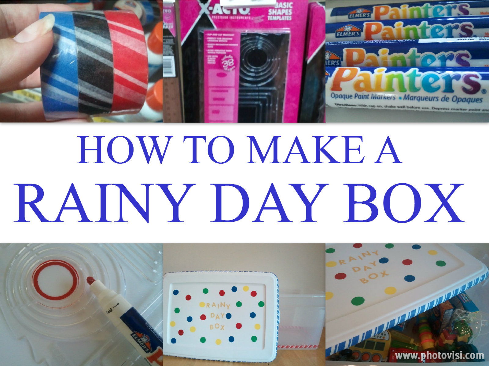 RAINY DAY BOX COLLAGE