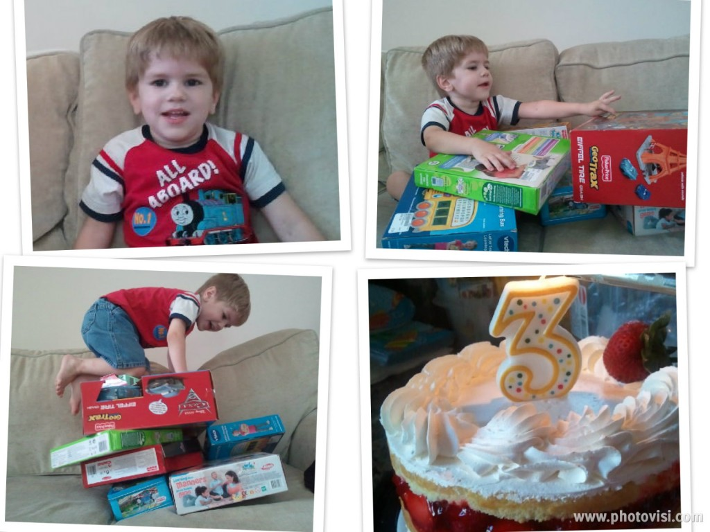 luke bday collage