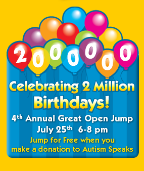 Jump For Free {And Support Autism Speaks}