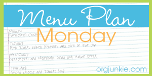 Menu Plan {October 29th- November 4th}