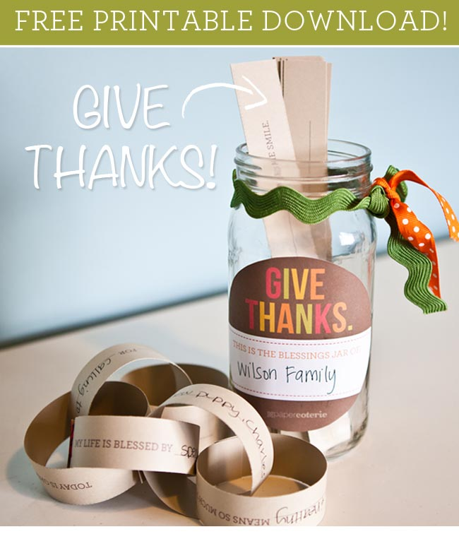 Free Printable Downloads: Gratitude Jar