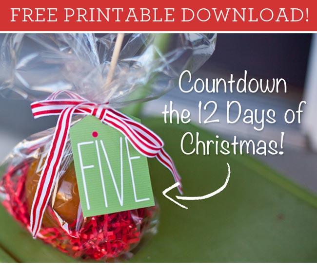 Free Printable: 12 Days Of Christmas Countdown