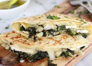 spinach and artichokes wrap