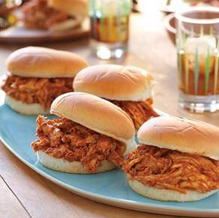 Pulled Barbecue Chicken Sandwiches {Recipe}