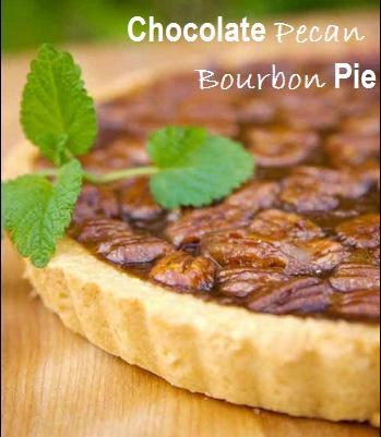 Chocolate Pecan Bourbon Pie {Recipe}