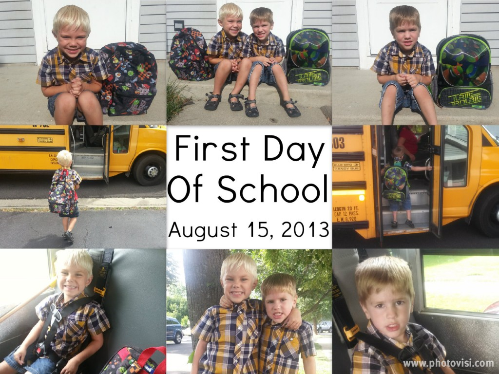 first day of school 2013 collage