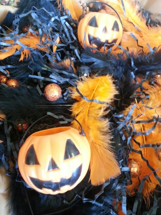 halloween sensory table