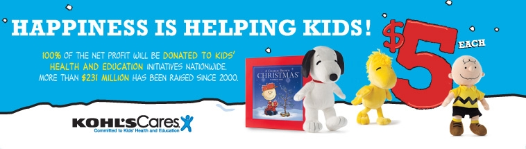 Kohl's Cares: Holiday Giving With The Peanuts Gang