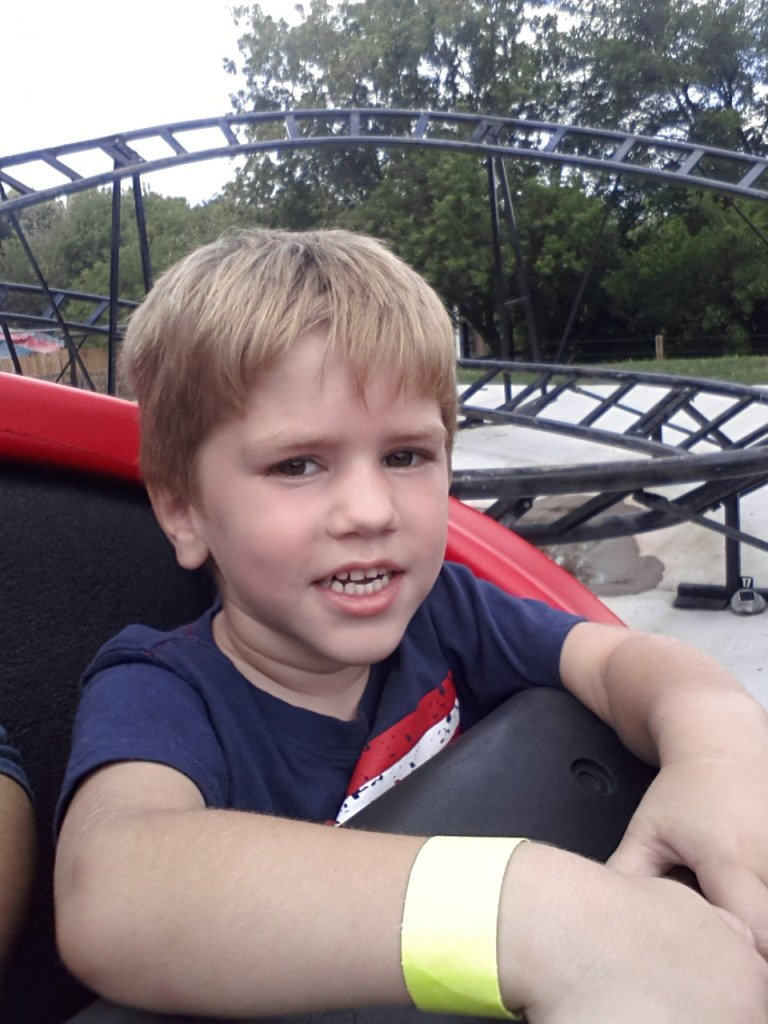 Lucas loves roller coasters!