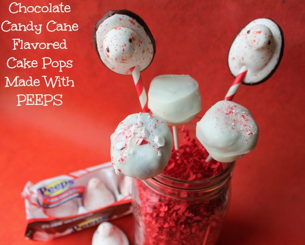 Chocolate Candy Cane Cake Pops With PEEPS {Recipe}