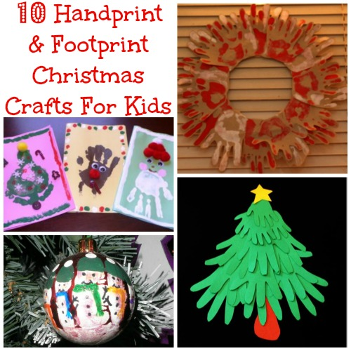 10 Handprint & Footprint Christmas Crafts For Kids