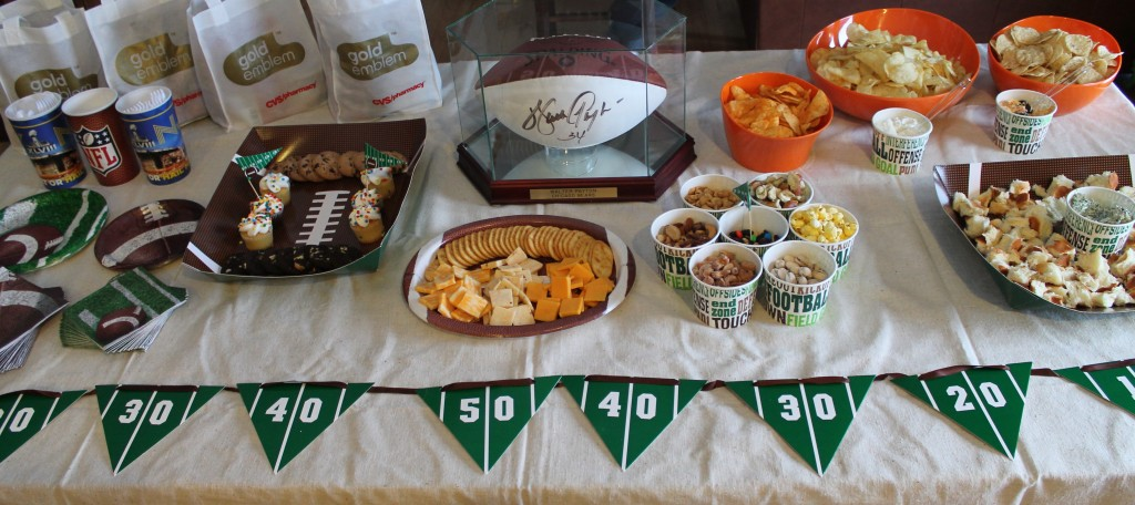 Our Big Game Celebration With Gold Emblem Snacks