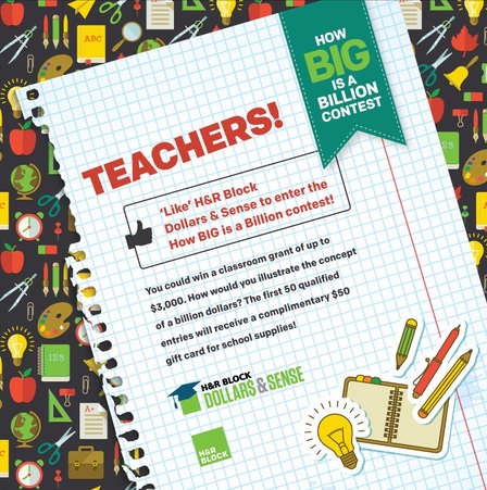 How Big Is A Billion? Contest For Teachers