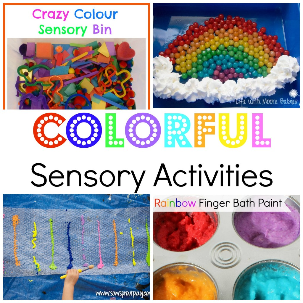 Colorful Sensory Activities {HOP}