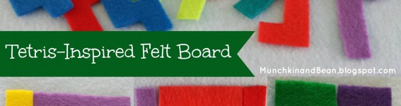 tetris inspired felt board