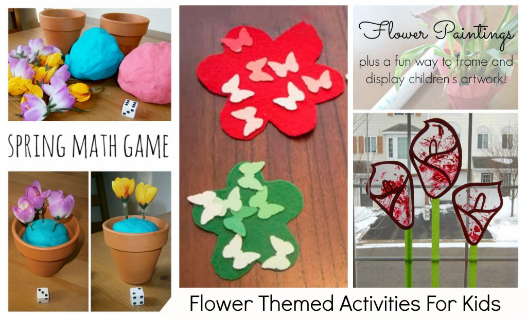 Flower Themed Activities For Kids {HOP}