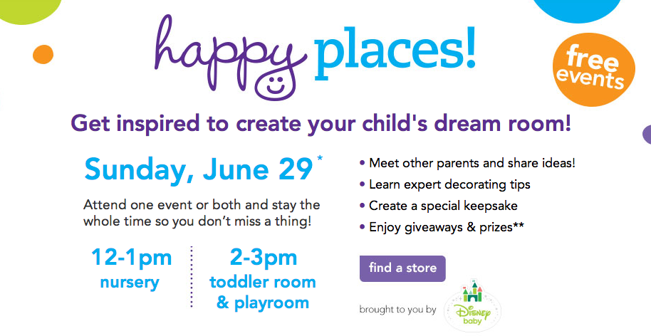 "Babies ""R"" Us Happy Places Design Events {Nationwide}"
