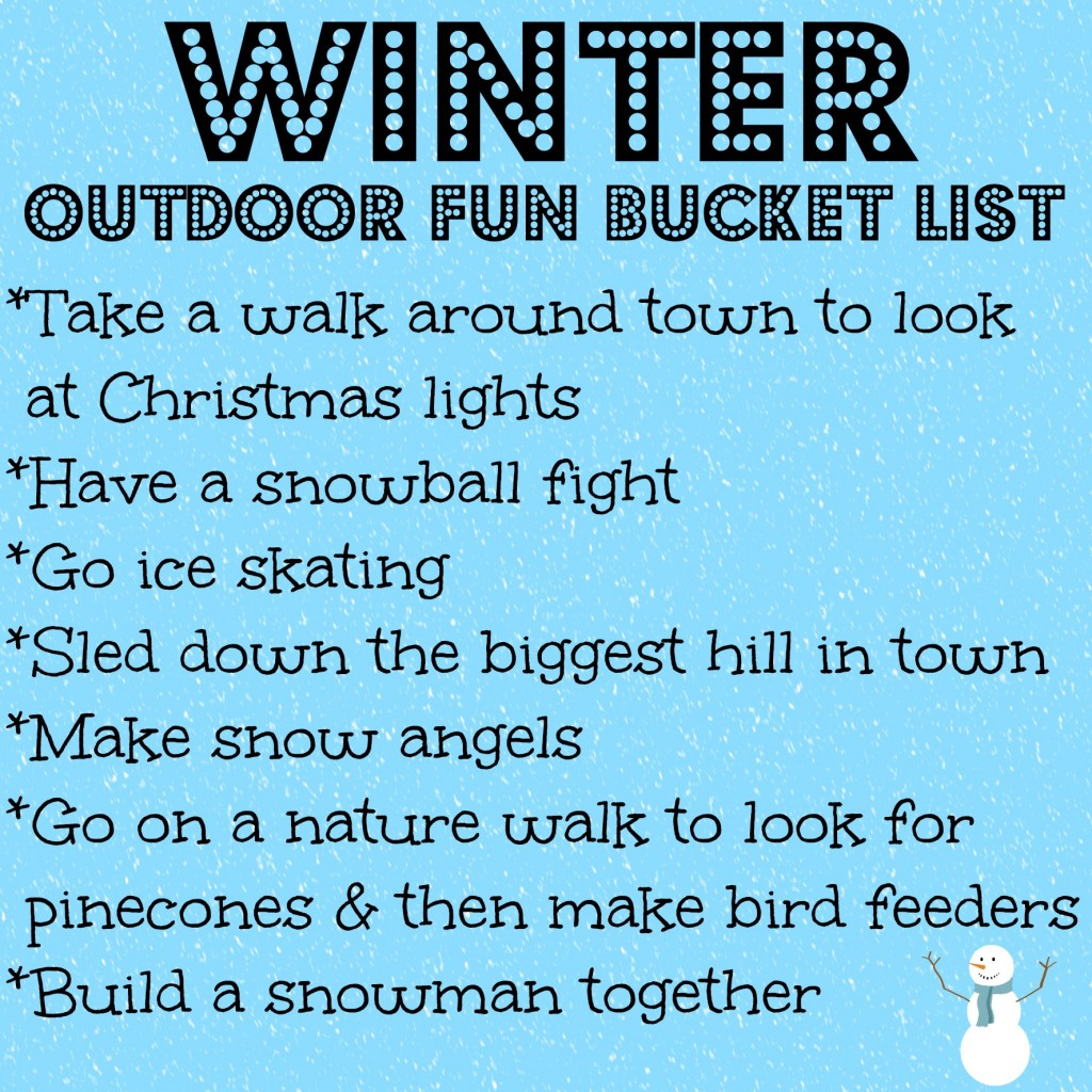 Winter Outdoor Fun Bucket List
