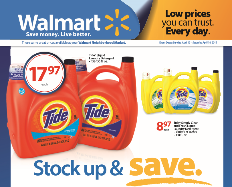 Stock Up and Save At Walmart (Gift Card Giveaway)