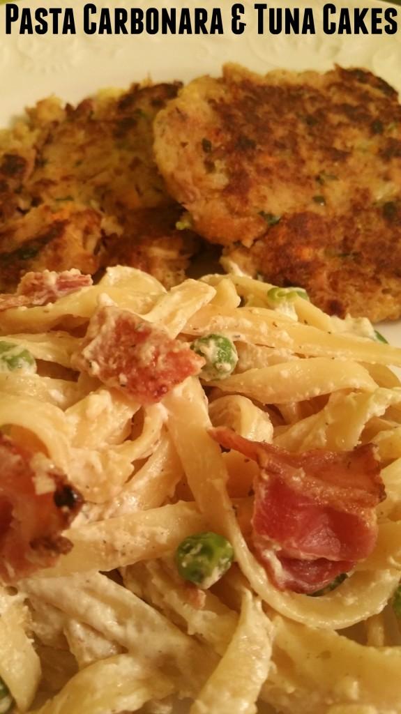 Pasta Carbonara and Tuna Cake Recipes