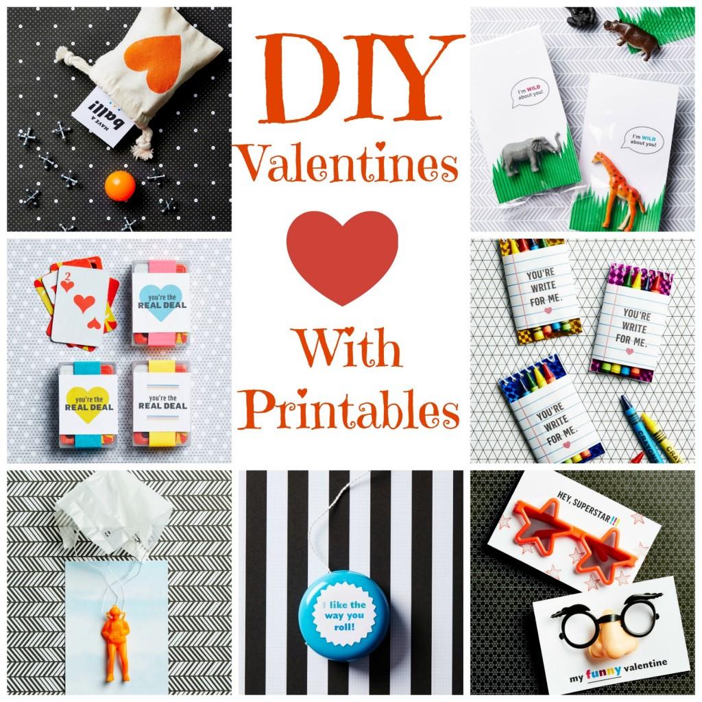 7 DIY Valentines With Printables