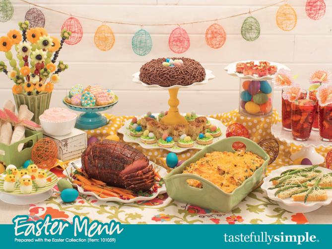 Tastefully Simple Easter Celebration Menu Collection {Giveaway}
