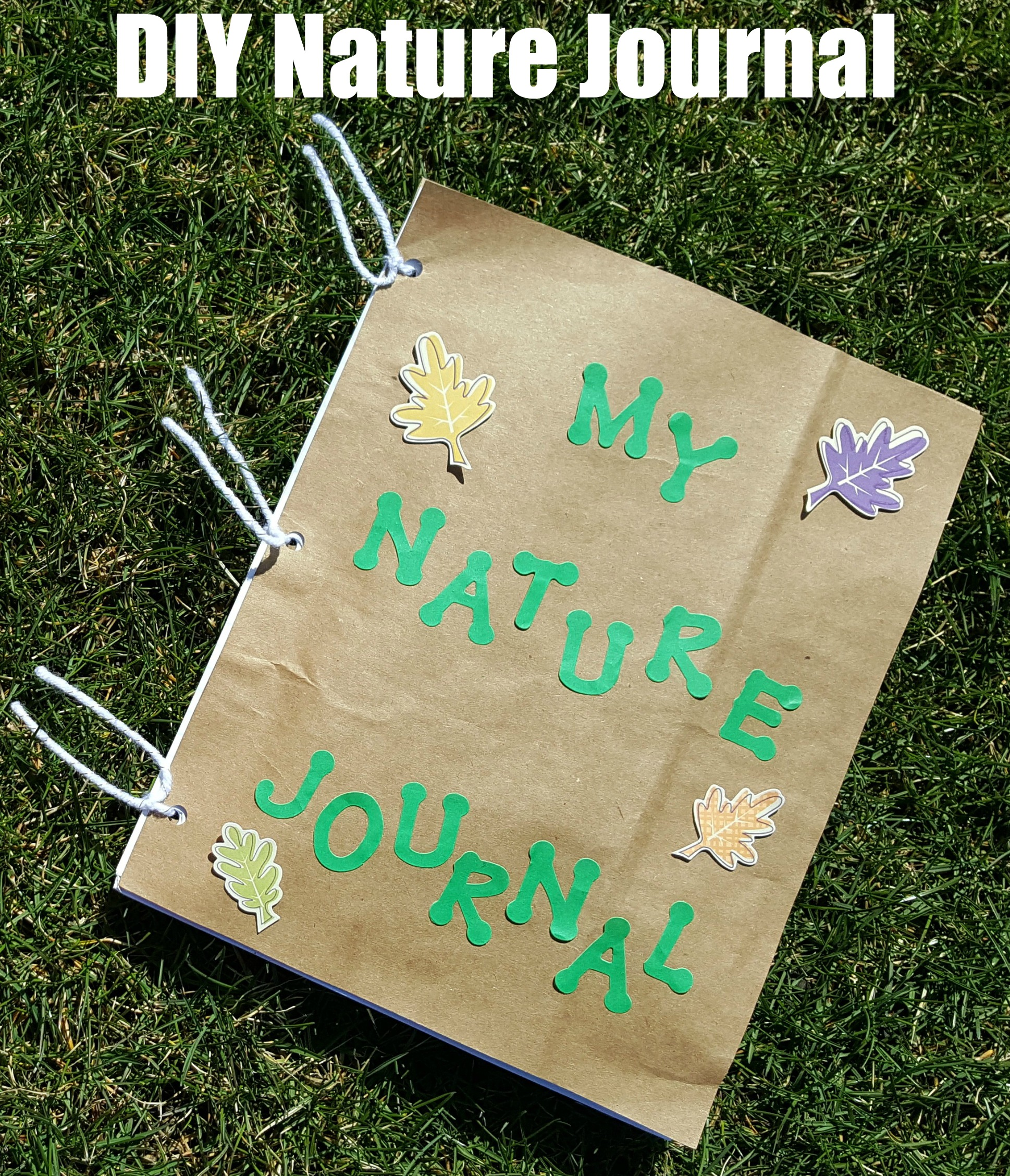 nature journal diy writing prompts activities included science paper outdoor blank making kid read hole bag fun spring