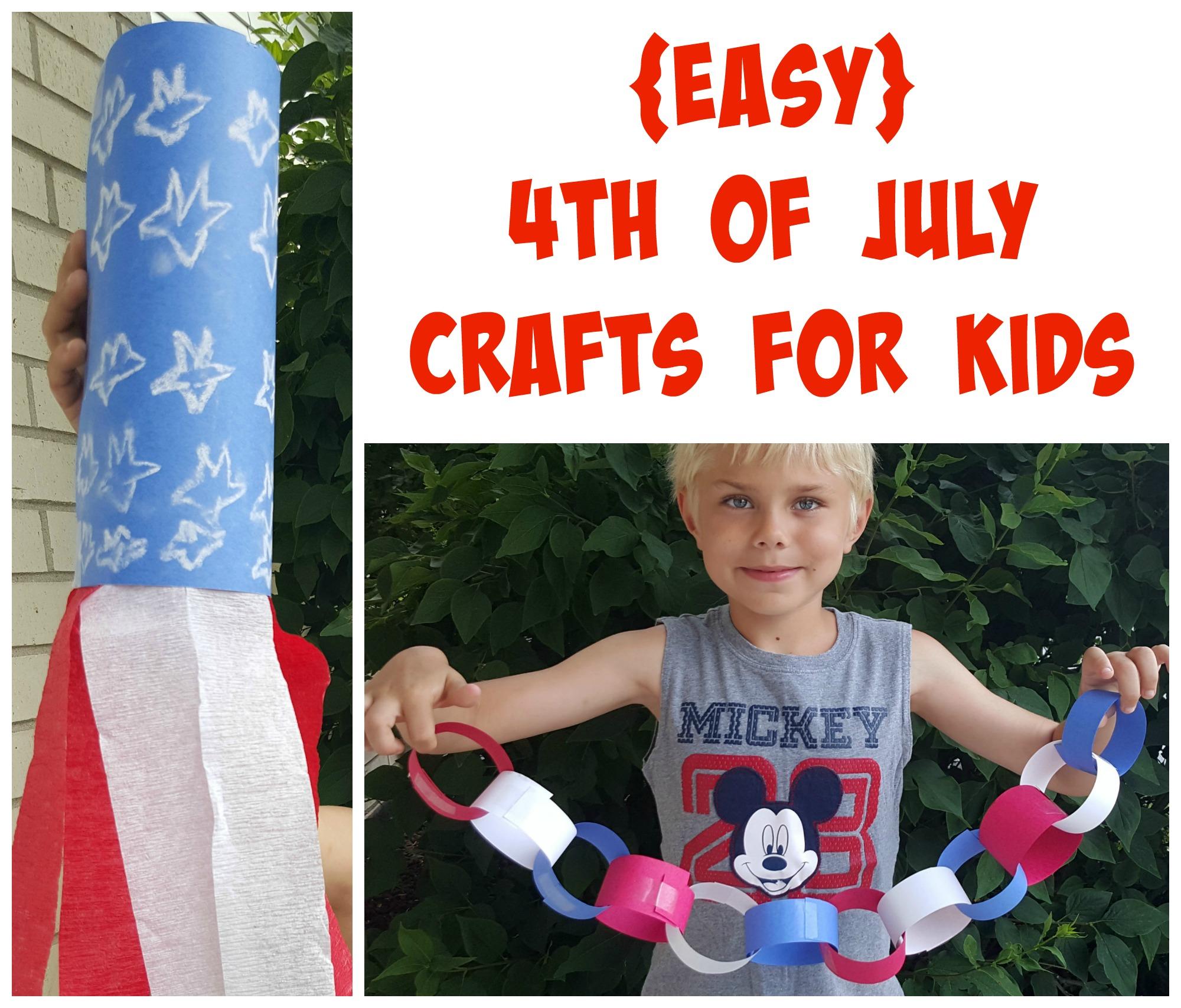 easy 4th of july crafts for kids making time for mommy. Black Bedroom Furniture Sets. Home Design Ideas