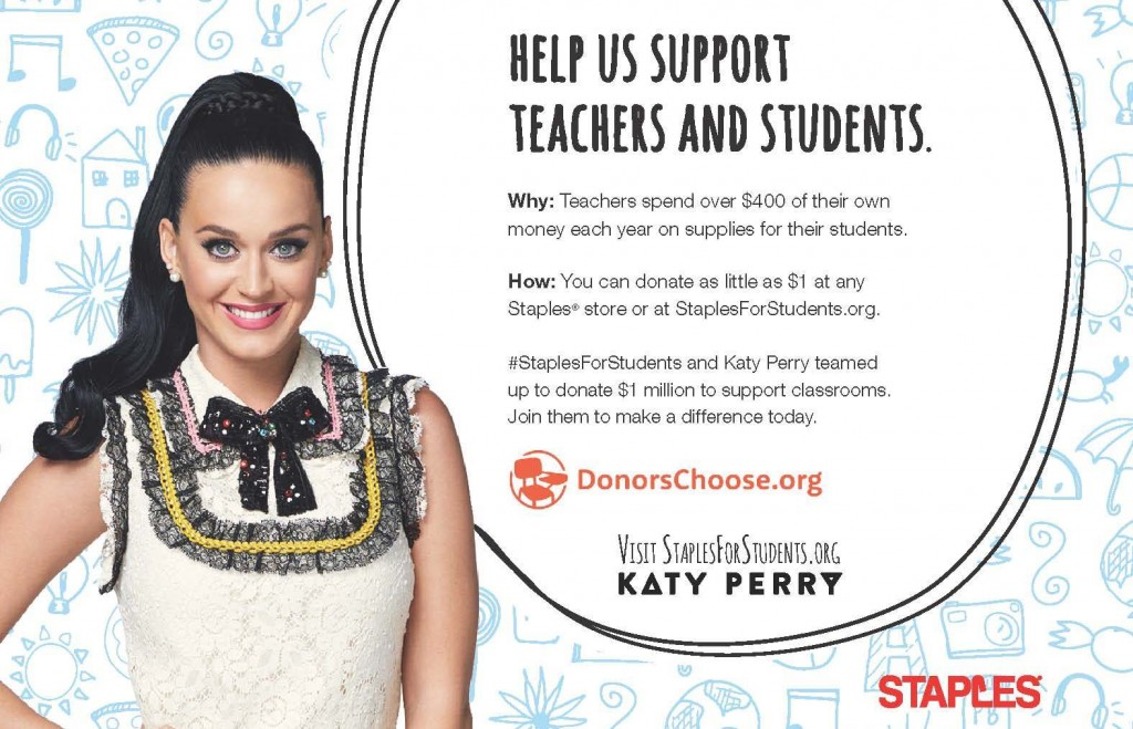 How You Can Help Teachers {And Win A Chance To Meet Katy Perry}