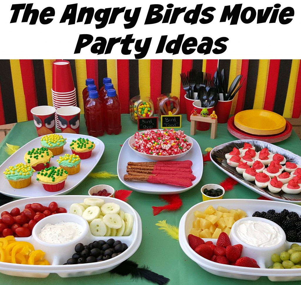 Angry birds movie night party ideas for Home alone theme decorations
