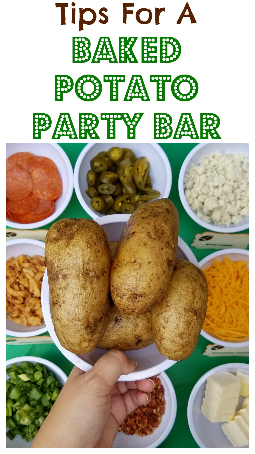 Football Party With A Baked Potato Bar - Making Time for Mommy