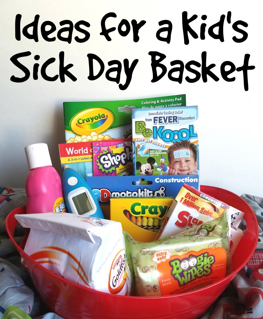 Sick Day Basket For Kids