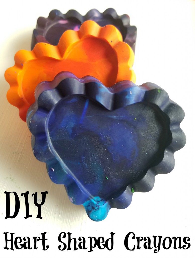 DIY Colorful Heart Shaped Crayons