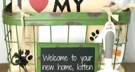New Kitten Gift Basket